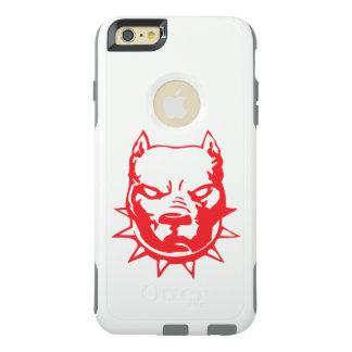 赤いブルドッグの頭部の入れ墨の芸術 オッターボックスiPhone 6/6S PLUSケース