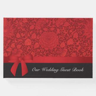 赤いブロケードの結婚式 ゲストブック