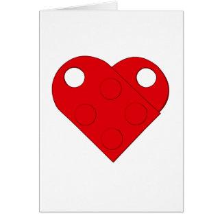 赤いブロックのハートカード(ブランク) カード