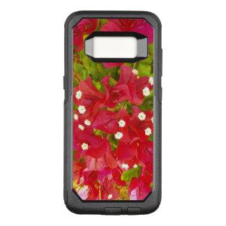 赤いブーゲンビリアの花 オッターボックスコミューターSamsung GALAXY S8 ケース