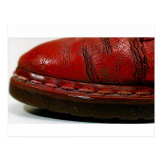 赤いブーツ ポストカード