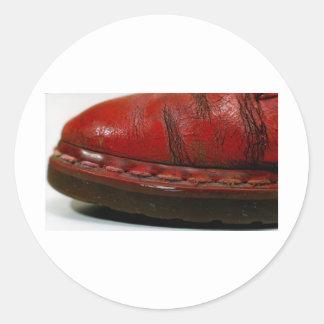 赤いブーツ ラウンドシール