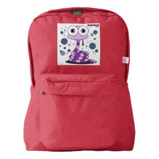 赤いヘビの(紫色の)バックパック AMERICAN APPAREL™バックパック