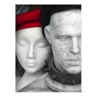 赤いベレー帽(2) - 1 ポストカード