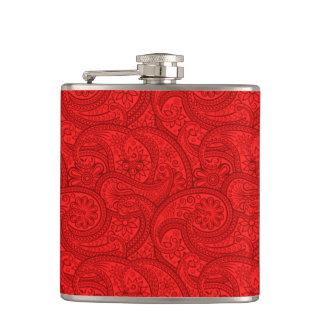 赤いペイズリー フラスク