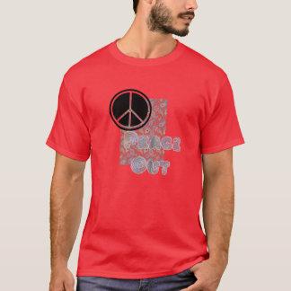 赤いペイズリー Tシャツ
