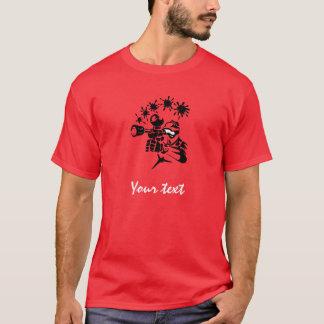 赤いペイントボール Tシャツ