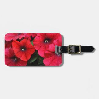赤いペチュニアの花 ラゲッジタグ