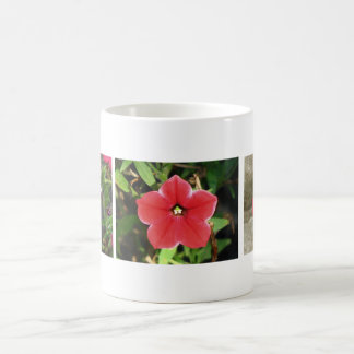 赤いペチュニア コーヒーマグカップ