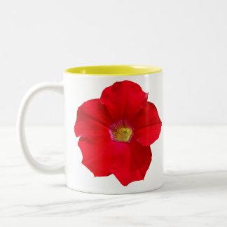 赤いペチュニア ツートーンマグカップ