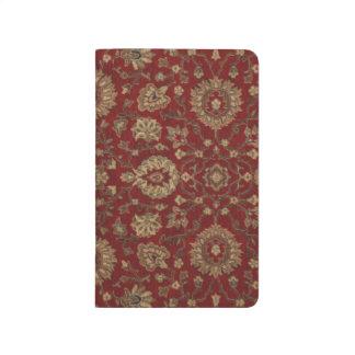赤いペルシャの深紅のアラベスクのタペストリー ポケットジャーナル