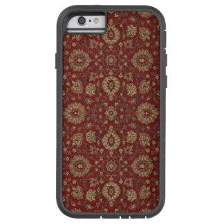 赤いペルシャの深紅のアラベスクのタペストリー TOUGH XTREME iPhone 6 ケース