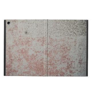 赤いペンキのiPadの箱が付いているグランジな壁 iPad Airケース