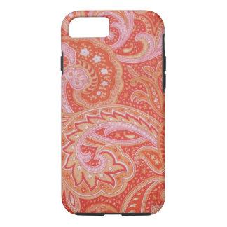 赤いペーズリーのiPhone 7の箱 iPhone 8/7ケース