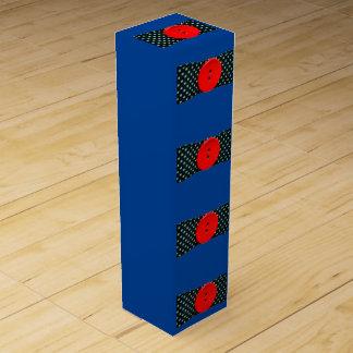 赤いボタン箱 ワインギフトボックス