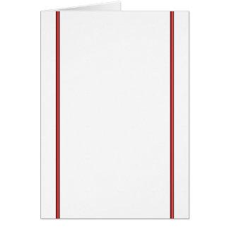 赤いボーダー(ポートレート) カード