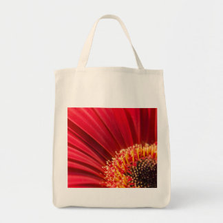 赤いマクロガーベラのデイジーの花の正方形 トートバッグ