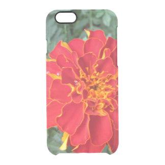 赤いマリーゴールドの花 クリアiPhone 6/6Sケース