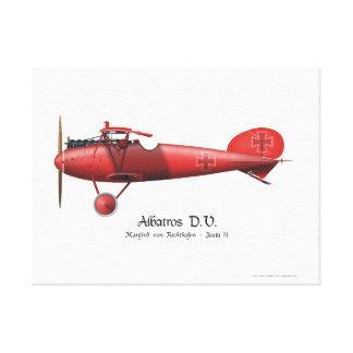 赤いマンフレッドフォンRichthofen German男爵のエース・パイロット キャンバスプリント