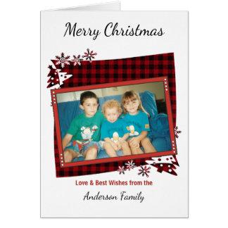 赤いメリークリスマスの写真 グリーティングカード