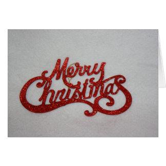 赤いメリークリスマスカード カード
