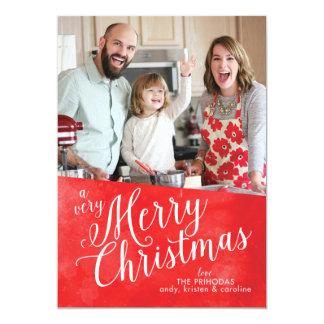 赤いメリークリスマス カード