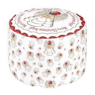 赤いメリークリスマス-線条細工のクリスマスの天使 プーフ