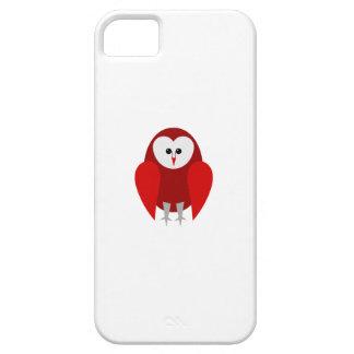 赤いメンフクロウの電話箱 iPhone SE/5/5s ケース
