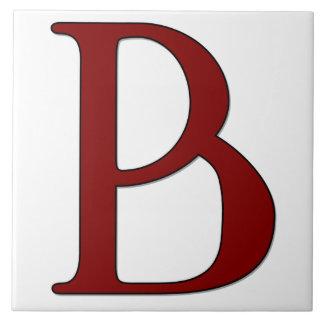 赤いモノグラムのタイルのヘレナの手紙B タイル
