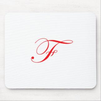 赤いモノグラムF マウスパッド