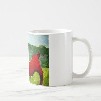 赤いヤギ コーヒーマグカップ