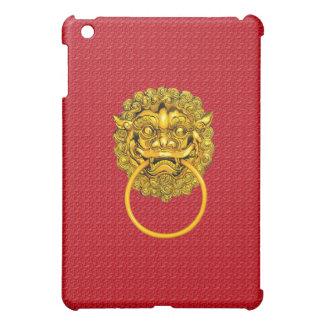 赤いライオンのゲート iPad MINIケース