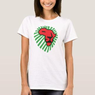赤いライオンの緑の鬣アフリカのワイシャツのための今回 Tシャツ