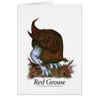 赤いライチョウ、贅沢なfernandes グリーティングカード
