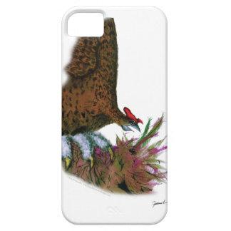赤いライチョウ、贅沢なfernandes iPhone SE/5/5s ケース