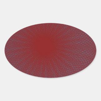赤いライムの抽象美術 楕円形シール