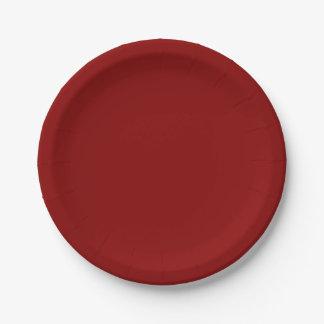 赤いラズベリーの紙皿 ペーパープレート