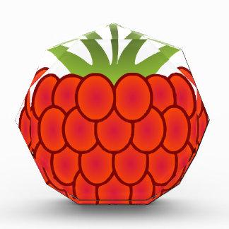 赤いラズベリーの線画 表彰盾