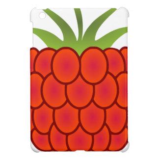 赤いラズベリーの線画 iPad MINIケース