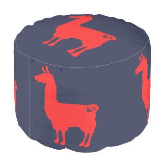 赤いラマのPouf プーフ