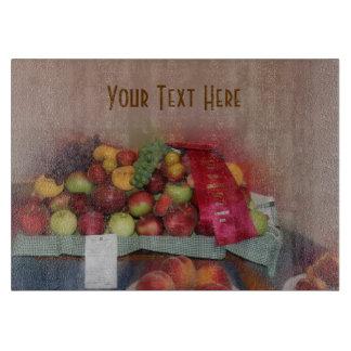 赤いリボンのカウンティーフェアのフルーツ カッティングボード