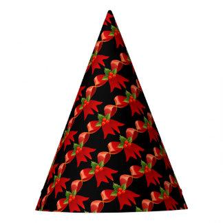 赤いリボンのパーティーの帽子 パーティーハット