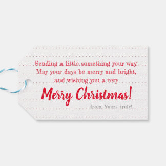 赤いリースの白: 名前入りなクリスマスのラベル ギフトタグ