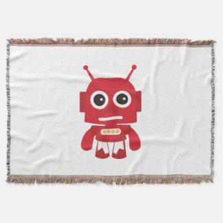 赤いレトロのロボット スローブランケット