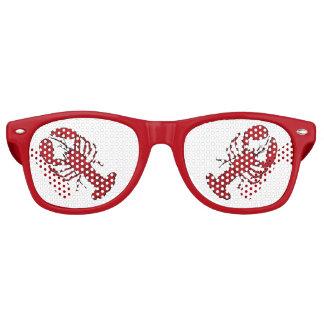 赤いレトロの赤いロブスターのロカビリーのサングラス レトロサングラス