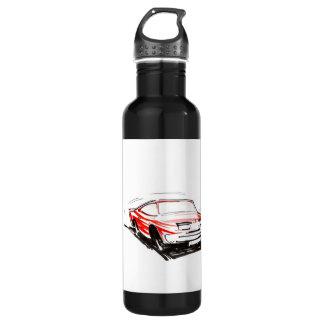 赤いレースカーの自由 ウォーターボトル