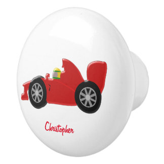 赤いレースカーはちょうど名前を加えます セラミックノブ
