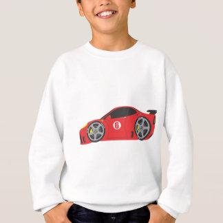 赤いレースカー スウェットシャツ