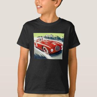 赤いレースカー Tシャツ
