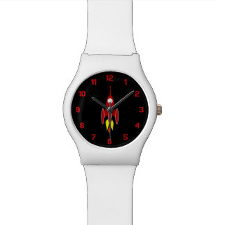 赤いロケット 腕時計